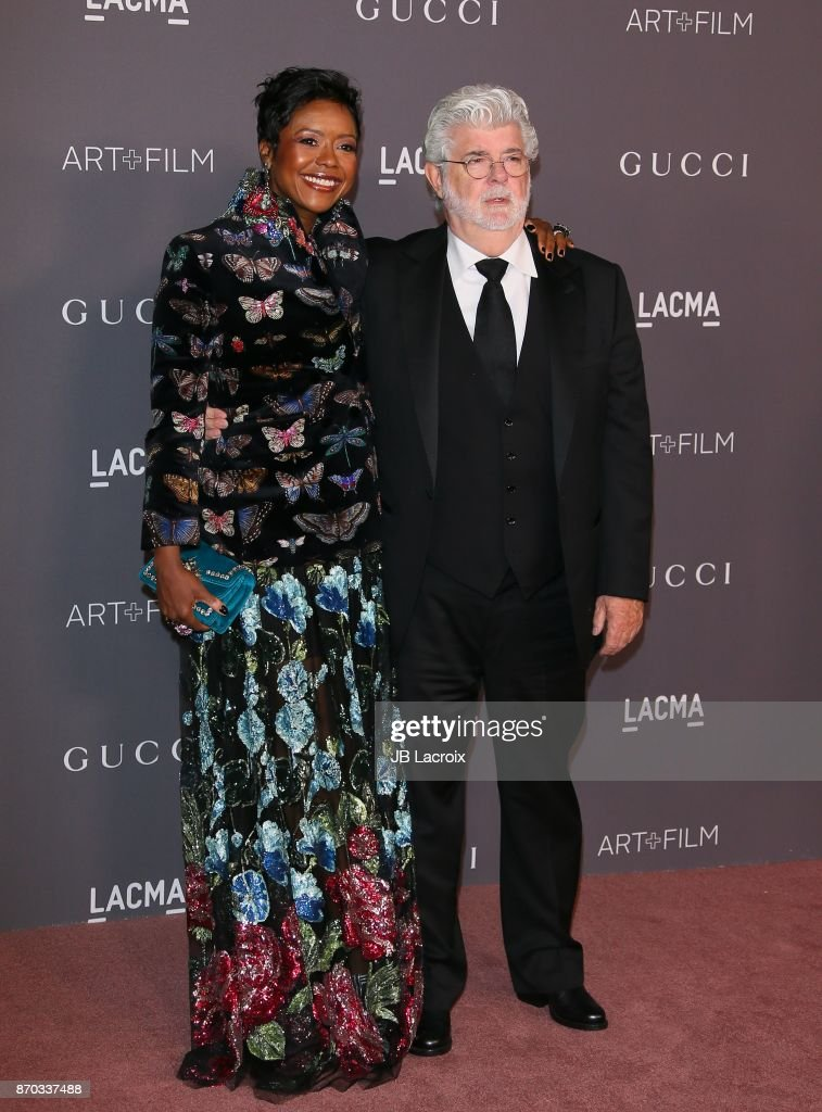 Mellody Hobson and George Lucas attend the LACMA Art + Film Gala honoring Mark Bradford and George Lucas on November 04, 2017 in Los Angeles, California.