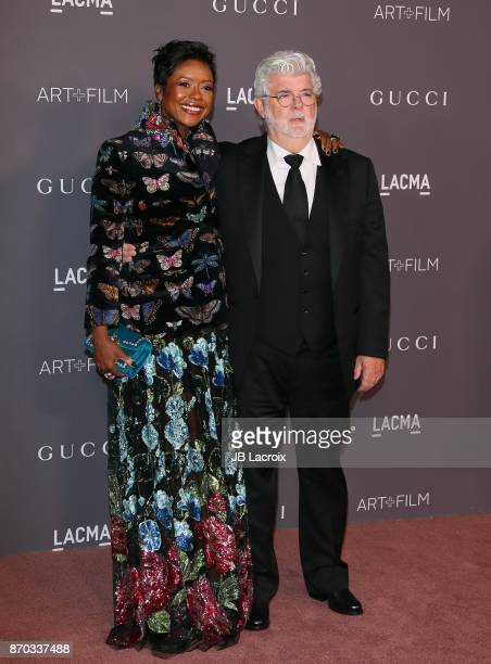 Mellody Hobson and George Lucas attend the LACMA Art + Film Gala honoring Mark Bradford and George Lucas on November 04, 2017 in Los Angeles,...