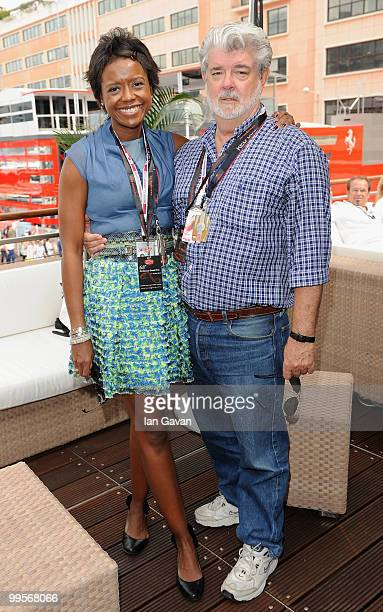 Mellody Hobson and George Lucas attend the Red Bull Formula 1 Energy Station on May 15, 2010 in Monaco, France.