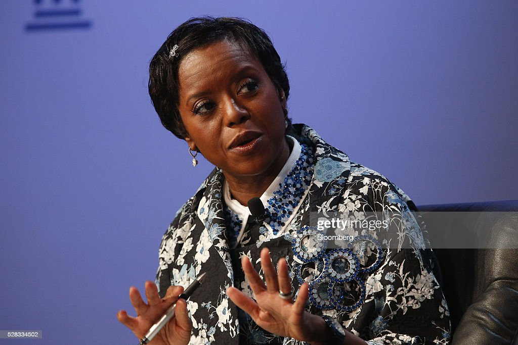 Mellody Hobson, president of Ariel Investments LLC and chairman of DreamWorks Animation SKG Inc., speaks during the annual Milken Institute Global Conference in Beverly Hills , California, U.S., on Wednesday, May 4, 2016. The conference gathers attendees to explore solutions to today's most pressing challenges in financial markets, industry sectors, health, government and education. Photographer: Patrick T. Fallon/Bloomberg via Getty Images