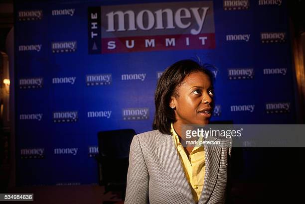 Mellody Hobson President of the investment firm Ariel Mutual Funds attends the Money Summit at the Pierre Hotel in Manhattan The conference hosted by...