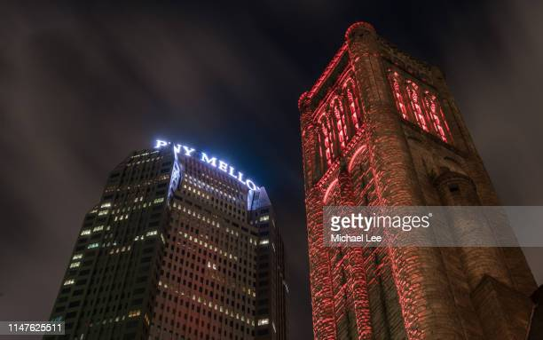 bny mellon center and allegheny county courthouse - pittsburgh - michael stock photos and pictures