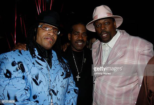 Melly Mel Curtis Blow and Grandmaster Caz attend Vaughn Anthony's Birthday Bash Hosted by John Legend on May 22 2008 in New York City