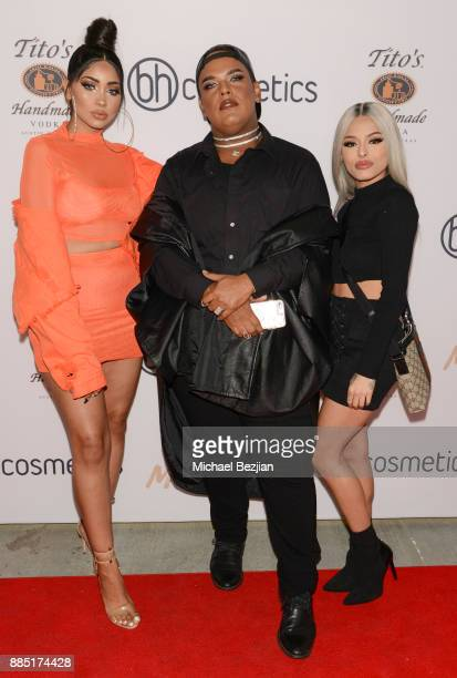 Melly Sanchez Hosway Morbak and Isabel Bedoya attend #MelroseIsLit Impressions Vanity Melrose Grand Opening Gala on December 2 2017 in Los Angeles...
