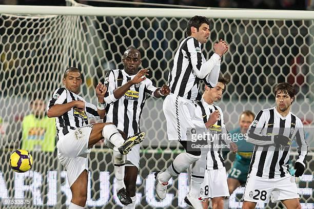 Melo De Carvalho Felipe Mohamed Sissoko Vincenzo Iaquinta Nicola Legrottaglie and Ribas Da Cunha Diego of Juventus FC in action during the Serie A...