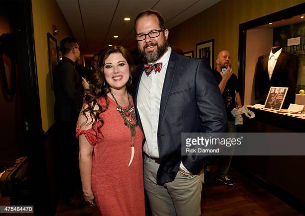 Melodee Devevo and Juan DeVevo of Casting Crowns attend the 3rd Annual KLOVE Fan Awards at the Grand Ole Opry House on May 31 2015 in Nashville...
