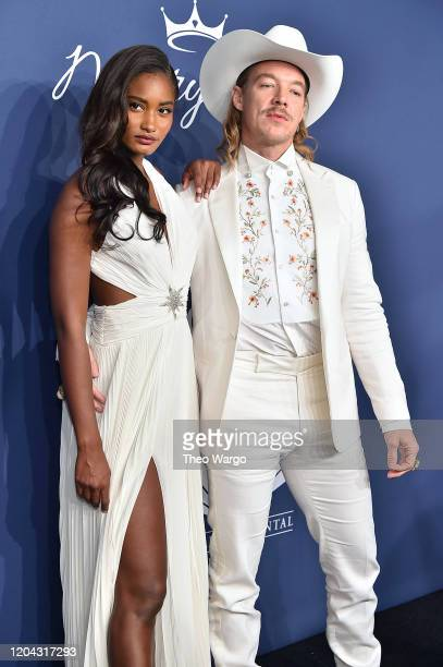 Melodie Monrose and Diplo attend the 2020 amfAR New York Gala on February 05 2020 in New York City