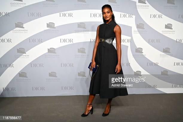 Melodie Monrose attends 2019 Guggenheim International Gala PreParty at Solomon R Guggenheim Museum on November 13 2019 in New York City