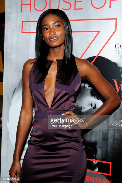 Melodie Monrose attends Brooks Brothers with The Cinema Society host the premiere of House of Z at Crosby Street Hotel on September 7 2017 in New...