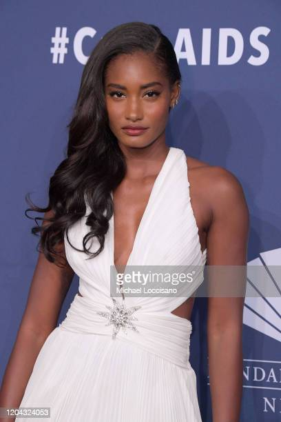 Melodie Monrose attends the 2020 amfAR New York Gala on February 05 2020 in New York City