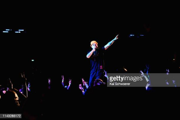 Melodownz performs during the You Are Us/Aroha Nui Concert at Christchurch Stadium on April 17 2019 in Christchurch New Zealand The fundraising show...