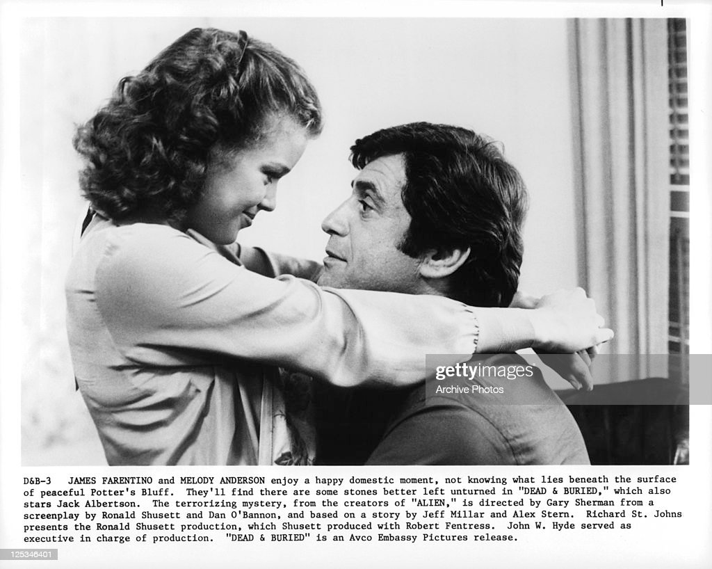 Melody Anderson And James Farentino embrace in a scene from the film 'Dead And Buried', 1981.