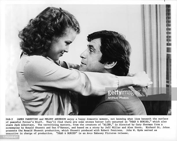 Melody Anderson And James Farentino embrace in a scene from the film 'Dead And Buried' 1981