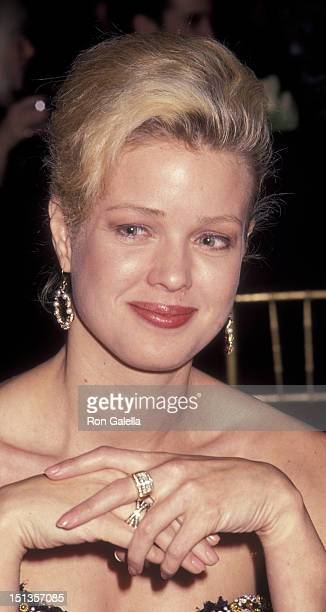 Melody Anderson attends Bank Street College of Education Awards Gala on January 11 1993 at the Waldorf Hotel in New York City