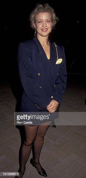 Melody Anderson attends the premiere of Closet Land on February 25 1991 at the Academy Theater in Beverly Hills California