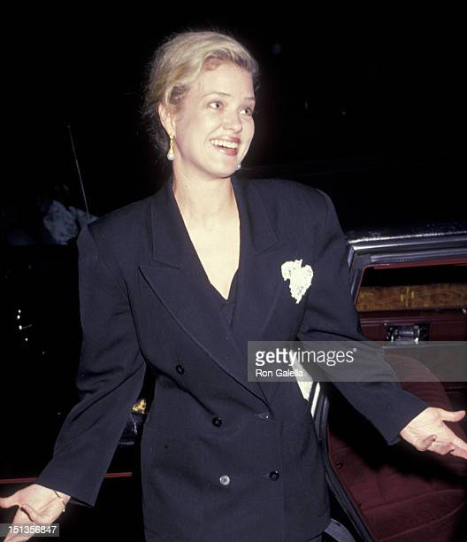 Melody Anderson sighted on February 16 1991 at Spago Restaurant in West Hollywood California