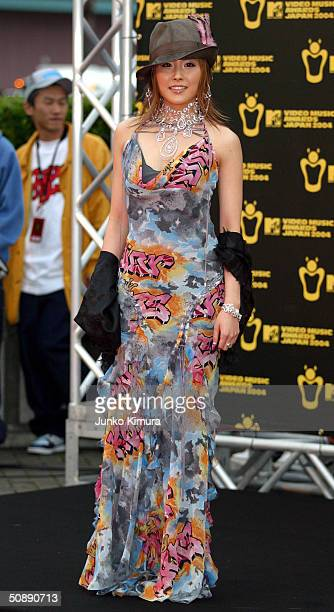 Melody arrives at the MTV Video Music Awards Japan 2004 on May 23 2004 in Tokyo Japan