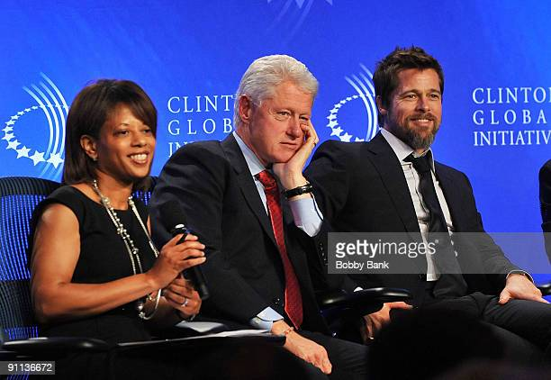 Melody Barnes Director of Domestic Policy Council White House Bill Clinton 42nd President United States of America and Brad Pitt Founder of Make it...