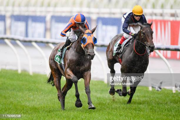 Melody Belle ridden by Opie Bosson wins the TAB Empire Rose Stakes at Flemington Racecourse on November 02 2019 in Flemington Australia