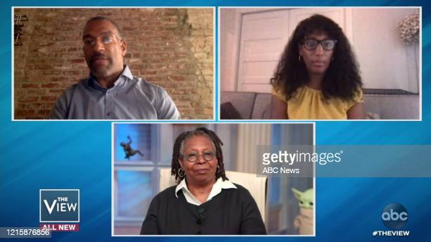 """Melody Cooper and Christian Cooper are guests on """"The View,"""" on Thursday, May 28, 2020 on ABC. CHRISTIAN COOPER, MELODY COOPER, WHOOPI GOLDBERG"""
