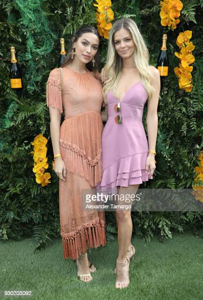 Melody de la Fe and Danielle Knudson are seen at the Veuve Clicquot Fourth Annual Clicquot Carnaval Supporting the Perez Art Museum Miami at Museum...
