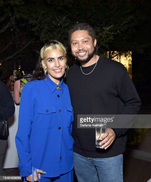 Melody Ehsani and Wes Felix attend a work out led by Megan Roup from The Sculpt Society as Olympian Allyson Felix opens Saysh's new experiential...