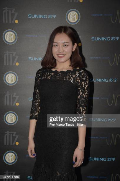 Melody Jia Chief of Staff and Director of Strategy of Suning International attends the unveiling of FC Internazionale 'Innovative Passion' Concept At...