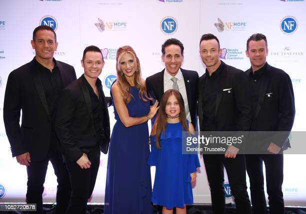 Melody Liebow Emma Leibow Jeff Leibow and musical group Human Nature arrive at Las Vegas's 8th annual NF Hope Concert A Benefit for Neurofibromatosis...