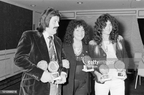Melody Maker Reader Poll Results Our picture shows Maggie Bell voted Top British Female Vocalist Jimmy Page voted Top guitarist Left of Maggie in...