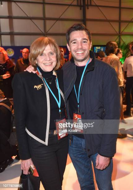 Melody Rogers and Ozzy Inguanzo attend the 30th Annual Palm Springs International Film Festival Opening Night Reception on January 4 2019 in Palm...