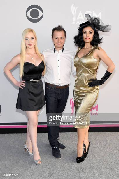 Melody Sweets and the cast of ABSINTHE attend the 52nd Academy of Country Music Awards at Toshiba Plaza on April 2 2017 in Las Vegas Nevada