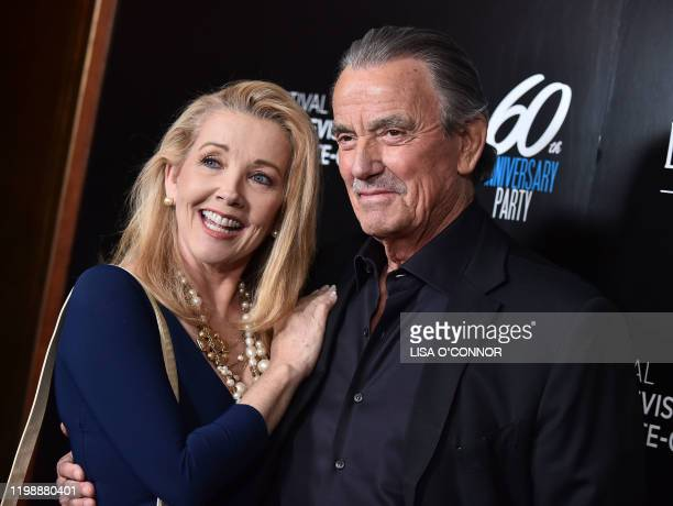Melody Thomas Scott and Eric Braeden attend the Monte-Carlo Television Festival 60th Anniversary Reception at Sunset Tower Hotel in Los Angeles,...