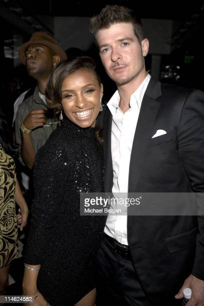 Melody Thornton and Robin Thicke during BET Awards 2007 Exclusive Creme of the Crop Dinner Party at Mr Chows in Los Angeles California United States