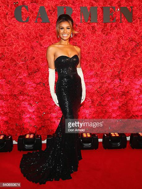 Melody Thornton arrives ahead of opening night of Opera Australia's production of Carmen at Sydney Opera House on June 16 2016 in Sydney Australia