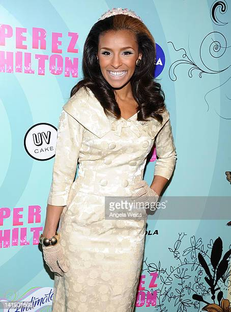 Melody Thornton arrives to his 34th birthday party at Siren Studios on March 24 2012 in Los Angeles California