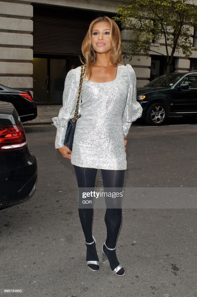 Melody Thornton arriving at VIP screening of 'Whitney: Can I Be Me' documentary at Mayfair hotel on June 13, 2017 in London, England.