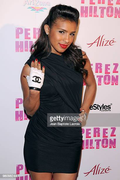 Melody Thornton attends Perez Hilton's 'CarnEvil' Theatrical Freak and Funk 32nd birthday party at Paramount Studios on March 27 2010 in Los Angeles...