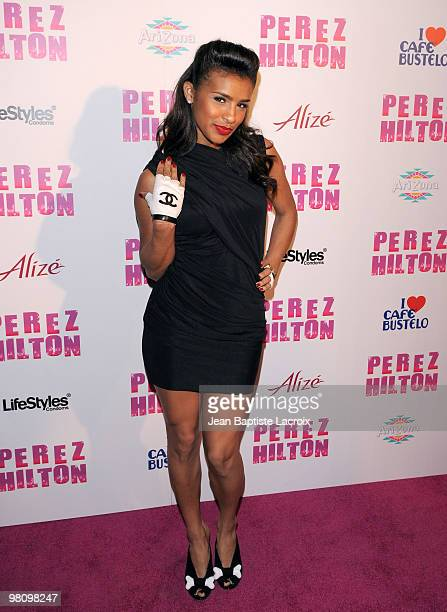Melody Thornton attends Perez Hilton's CarnEvil Theatrical Freak and Funk 32nd birthday party at Paramount Studios on March 27 2010 in Los Angeles...