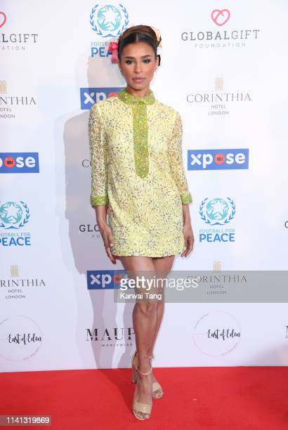 Melody Thornton attends the Football for Peace Initiative Dinner by Global Gift Foundation at Corinthia Hotel London on April 08, 2019 in London,...