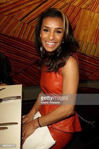 Melody Thornton attends the 'Lambertz Monday Night' PreDinner at Restaurant 'Wein am Rhein' on January 27 2013 in Cologne Germany