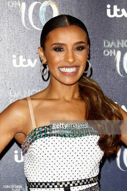 Melody Thornton during a photocall for the new series of Dancing On Ice at the Natural History Museum Ice Rink on December 18 2018 in London England