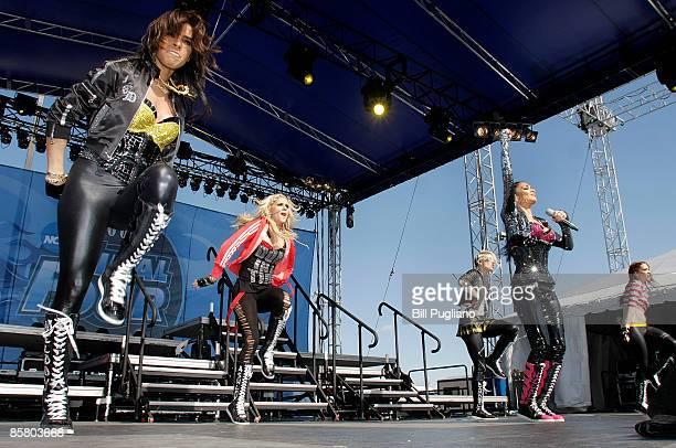 Melody Thornton Kimberly Wyatt Ashley Roberts Nicole Scherzinger and Jessica Sutta of The Pussycat Dolls perform at day 2 of The Big Dance free...
