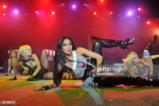 Melody Thornton Kimberly Wyatt Nicole Scherzinger and Ashley Roberts of the Pussycat Dolls perform on the second day of the Singfest music festival...