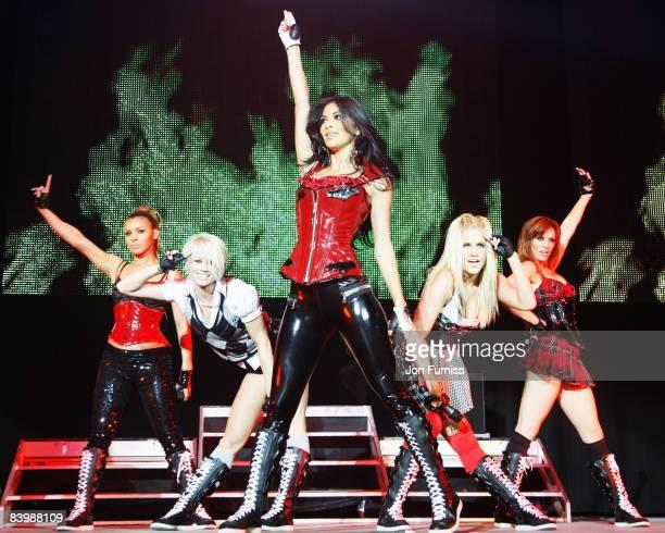 LONDON DECEMBER 10 Melody Thornton Kimberly Wyatt Nicole Scherzinger Ashley Roberts and Jessica Sutta of Pussycat Dolls performs at Capital FM's...