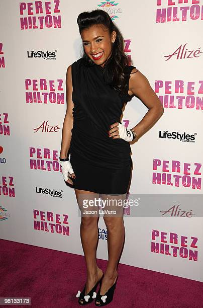 Melody Thornton of The Pussycat Dolls attends Perez Hilton's CarnEvil Theatrical Freak and Funk 32nd birthday party at Paramount Studios on March 27...