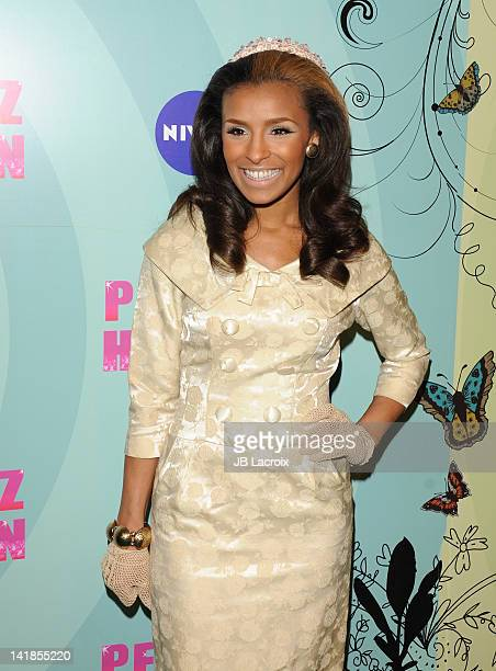 Melody Thorton attends Perez Hilton's Mad Hatter Tea Party Celebration on March 24 2012 in Hollywood California
