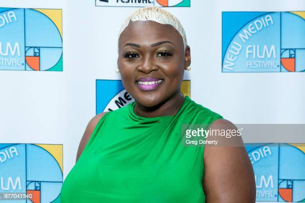 Melody Trice attends the 9th Annual New Media Film Festival at James Bridges Theater on June 16 2018 in Los Angeles California