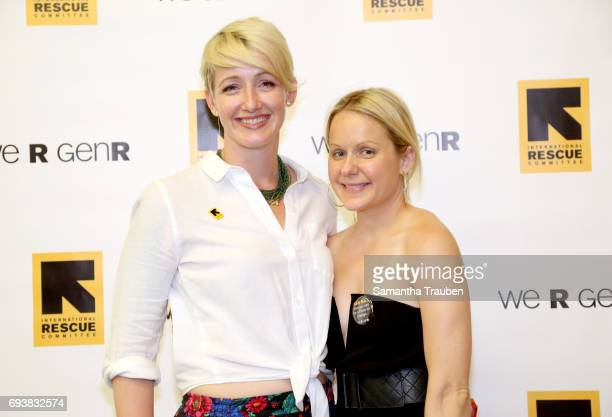 Melody Westen and Samantha Becker attend Uprooted Heroes Portraits of Refugees hosted by Generation Rescue and the International Rescue Committe on...