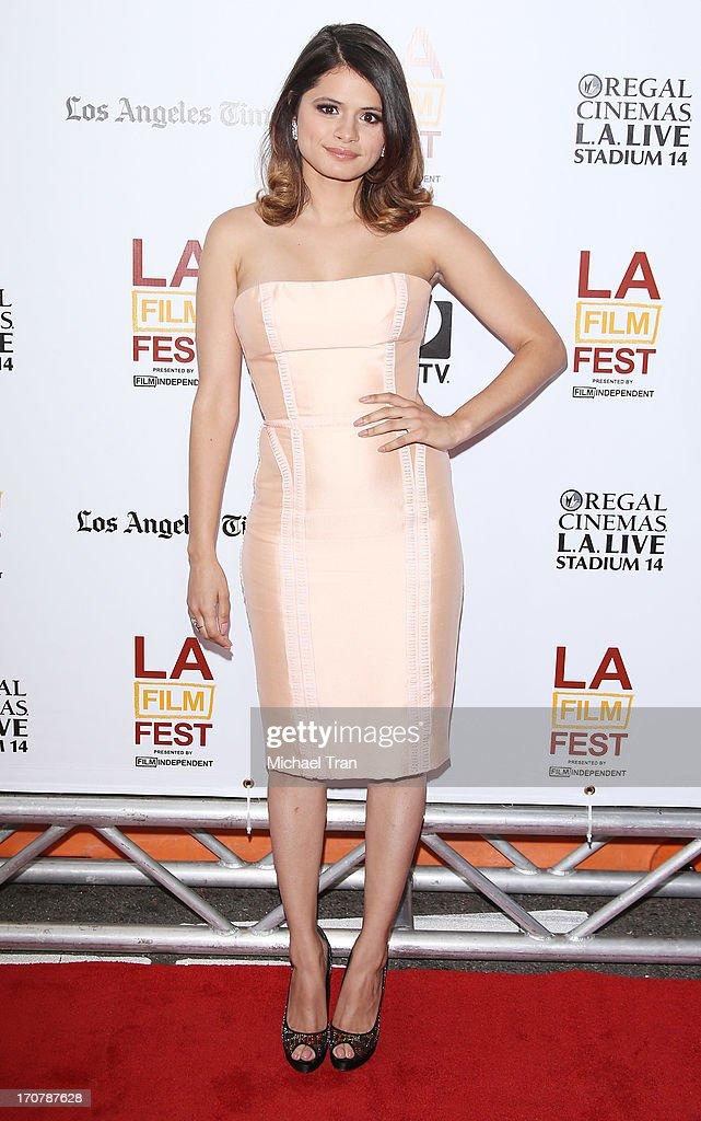 Melonie Diaz arrives at the 2013 Los Angeles Film Festival 'Fruitvale Station' premiere held at Regal Cinemas L.A. LIVE Stadium 14 on June 17, 2013 in Los Angeles, California.