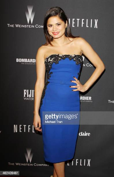 Melonie Diaz arrives at The Weinstein Company and NetFlix 2014 Golden Globe Awards after party held on January 12, 2014 in Beverly Hills, California.